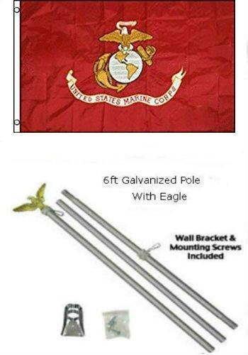 芸能人愛用 2 3 x B01MT37XJ7 3 2 ' x3 x3 ' EGA USMC海兵隊海兵隊フラグ亜鉛メッキポールキットEagle Top B01MT37XJ7, SportsShopファーストステーション:1054b27d --- senas.4x4.lt