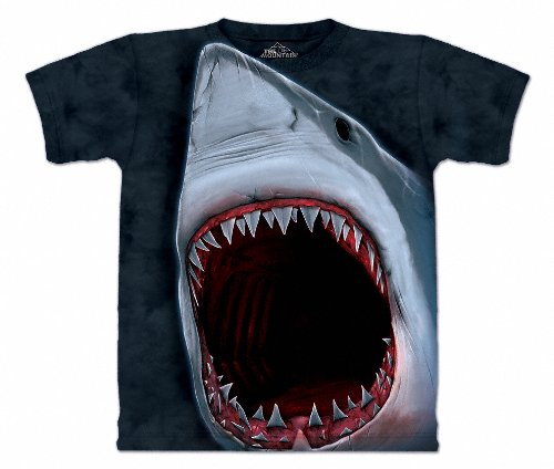 The Mountain Mens Shark Bite Short Sleeve Tee, Dark Navy Blue, XX-Large