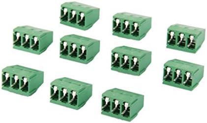 端子ブロック 端子台 3ピン プラグイン DG128 PA66.UL94V-0ピッチ 5MM 300V / 10A 10個