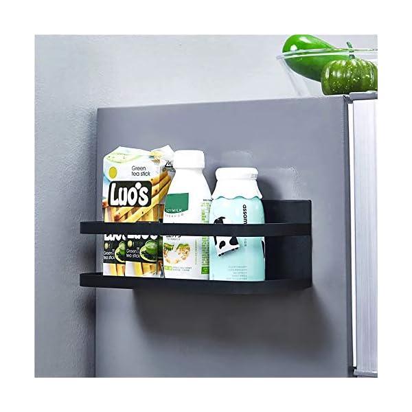 418gU%2BpUWHL OIZEN Kühlschrank Regal Hängeregal für Kühlschrank Magnet Gewürzregal mit Ablage Küchenregal Küchen Organizer…