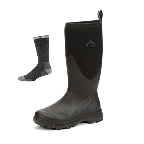 Black Boot Boot W Socks Muck Winter Rubber Outpost Men's Arctic Tall BaOxq8d