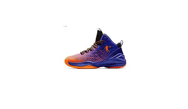color azul antideslizantes WYEZ Zapatillas de baloncesto para hombre 37 resistentes al desgaste