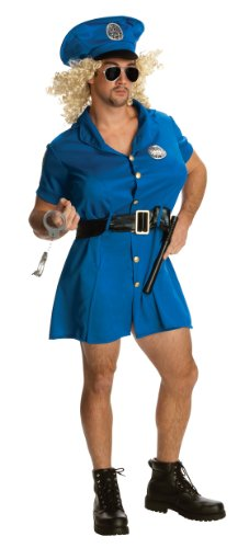 Double Halloween Costumes (Rubie's Costume Double Take Cop O'feeley Costume, Blue, One Size)