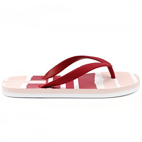 Nautica Women's pintle Flip Flop, Beach Sandal, Thong Style Boat Slide, Cloud Pink-6