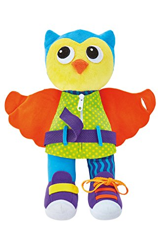Kidoozie Dress Me Owl - Basic Life Skills Set - Learn to Buckle, Zip, Button, and Tie Clothes and Shoes - Ages 2+
