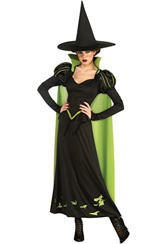 Witch On Wizard Of Oz (Rubie's Costume Wizard Of Oz 75th Anniversary Edition Adult Wicked Witch Of The West, Black/Green, One Size Costume)