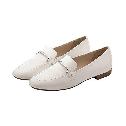 Pic / Lön Dinah Kvinna Loafers - Classic Elegant Dagdrivare Vit Pu