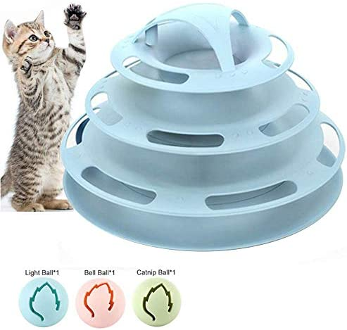 Lxhff Pecute Cat Roller Toy 4 Layers More Fun with Upgraded