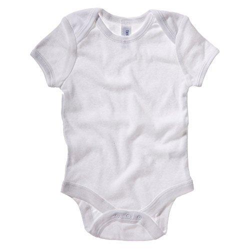 Bella+Canvas Short sleeve baby rib one-piece White 1824