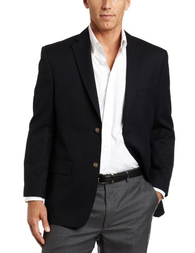 Haggar Men's Solid Two Button Center-Vent Sport Coat