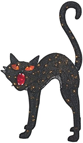 Amazon Home Accents 40 In Tinsel Black Cat Halloween Decor Extraordinary Home Accents Halloween Decorations