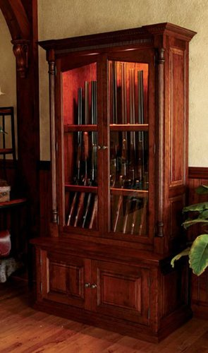 Delightful Orvis Cherrywood Security Gun Cabinet / Threshold Delivery, ,