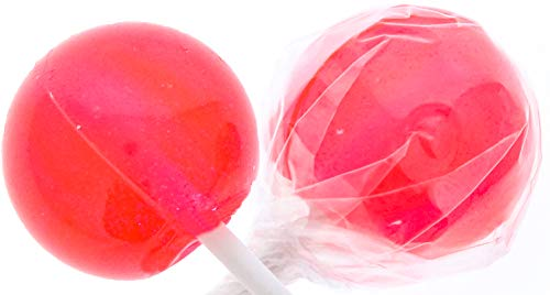 Watermelon Gourmet Lollipops - 30 Count Pink Suckers- Individually Wrapped - Includes