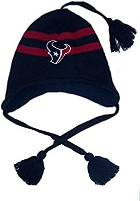 Amazon.com   Houston Texans Toddler Knit Pom Beanie With Tassels Hat Cap  Boys And Girls   Sports   Outdoors 852ede739