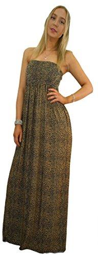Newtrendyfashion Reggiseno a Print Vestito fascia Donna Leopard zrqwzH5S