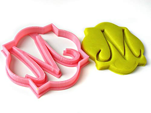 Single Letter Monogram Custom Cookie Cutter, Plaque Shaped, Personalized with Your Initial, Birthday Wedding - Personalized Cookie Cutters