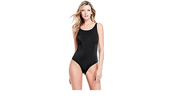 c0aa34bc4f9 GUESS Women's One Piece Logo Swimsuit, Jet Black Frost Grey, XS at Amazon  Women's Clothing store: