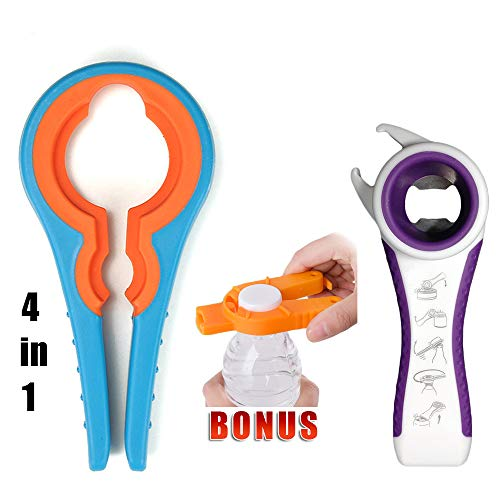 Jar Opener Bottle Opener Can Opener Mobility Aids Grip For Seniors Rheumatoid Arthritis Products Lid Twist Off Gripper For Arthritis Hands Any Size Grip Quality Kitchen Gadgets and Tools Set