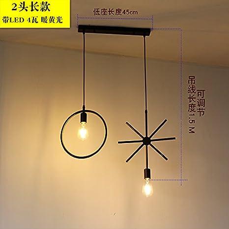 CNUAckl Iluminacióncolgante Nordic Simple Loft Bar Tienda De Ropa Personalidad Creativa Volver Al Hierro Antiguo Arte