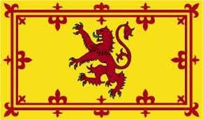 LIQUIDACIÓN! 5 unidades (45,72 cm x 30,48 cm) Escocia desenfrenado León poliéster bandera autodhesivos en mano agitadarepresenta 60,96 cm poste de madera
