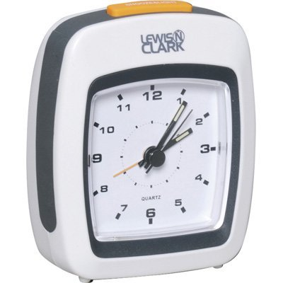 Lewis N. Clark Plastic Analog Alarm Clock with Back Light and Snooze - Clark N Clock Lewis