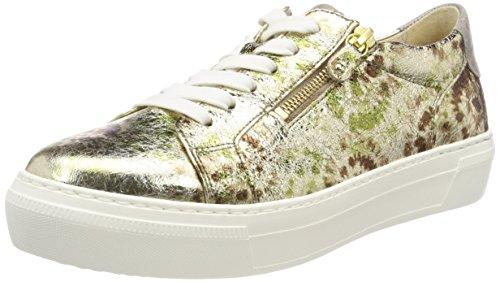 Gabor Chaussures Femme Derbys Occasionnels Vert (oliv / Platino / Bronc)