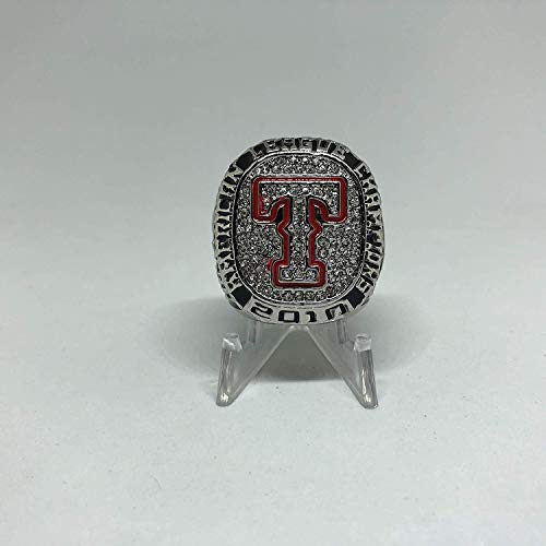 2010 Josh Hamilton Texas Rangers High Quality Replica American League Championship Ring Silver Color Size 11