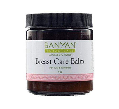 Banyan Botanicals Breast Care Balm - Certified Organic, 4 oz - Tulsi & Palmarosa For Massage Aid for Regular Breast Care by Banyan Botanicals