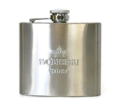 Sobieski Vodka Stainless Steel Hip 5oz ()