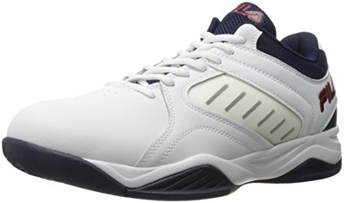 Fila Männer Bank Basketball Schuh Weiß / Fila Navy / Fila Rot