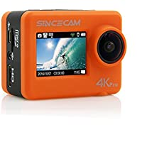 SINCECAM Pro HD Recording digital action camera SC128Pro with IMX117 Sensor, Orange
