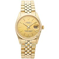 Rolex Date 34 Mechanical (Automatic) Champagne Dial Mens Watch 15037 (Certified Pre-Owned)