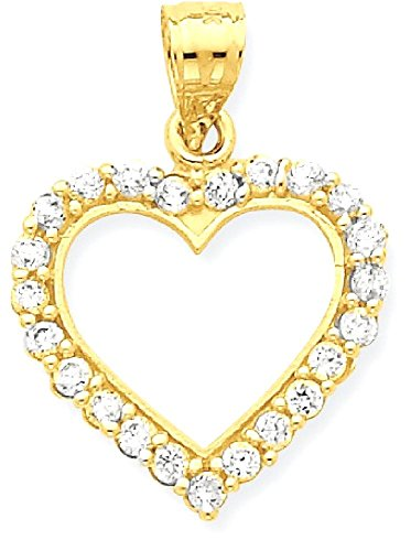 10k Gold Designer Heart Pendant - 3
