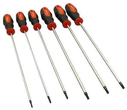 Torx® Juego de destornilladores 6 piezas extra largo/355 mm, perfil ...