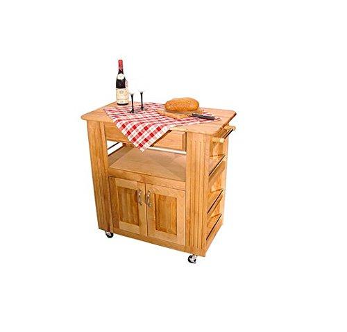 Catskill Craftmen Wood Heart-of-the-Kitchen Island Cart