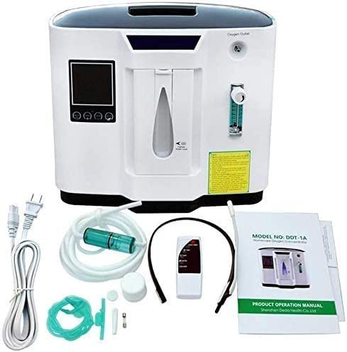 FTNJG Portátil Generador de concentrador de oxígeno 1-6L / min de Flujo Máquina de oxígeno 90% de Alta pureza Purificador de Aire casero para Uso doméstico y de Viaje ...