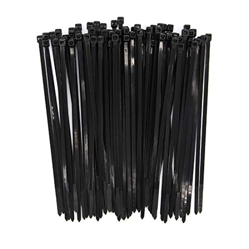 Heavy Duty Zip Ties Black 8 Inch Wide 4.8mm Nylon Self-locki