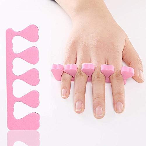 Tatapai Orthopädische Einlegesohlen 4Pcs Pink High Density Soft Sponge Finger Splitter Nagelwerkzeuge Nagellackfinger Splitter Reparatur Zehennägel Separator Nägel Kunstwerkzeuge