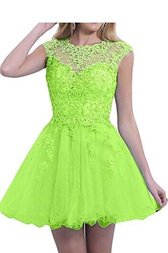 Promkleider Herrlich mia Damen Mini Rock Ballkleider Lemon Spitze Kurz Cocktailkleider Pink Gruen La Braut Abendkleider Tanzenkleider gqwTpTU