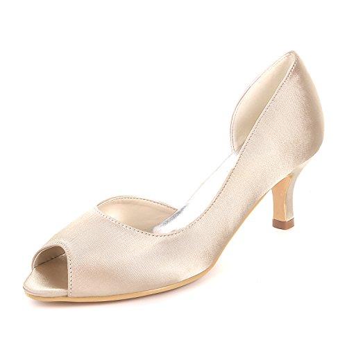 Bombas De Tac Ager Toe Flower Zapatos 08 De Sandalias Las Peep Y1195 Mujeres AxqOz