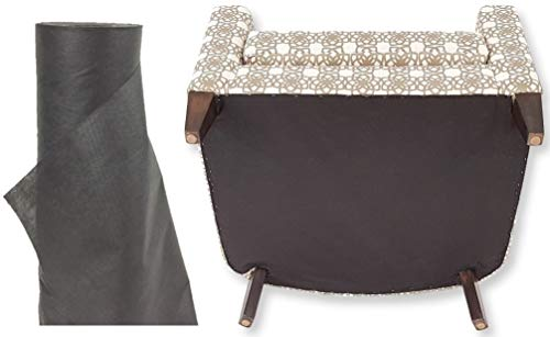 Over Woven Ottoman Cover - Black Cambric, Dust Cover 36