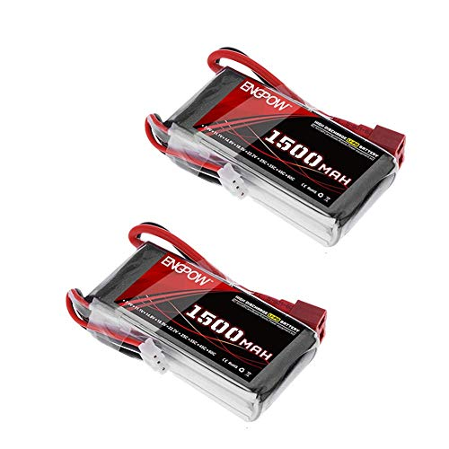 Panthers Cell - ENGPOW 2S 7.4V 1500mAh 35C Lipo Battery Pack with Dean T Plug for Remote Control Truck 9125 Off-Road RC Car Electronic Monste Losi Traxxas Slash RC Truck RC Truggy Boat Helicopter RC Hobby(2PCS)