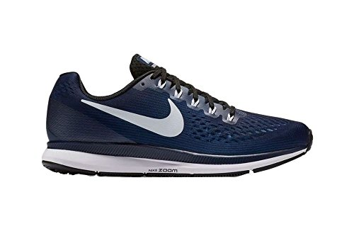 Nike Womens Air Zoom Pegasus 34 Scarpa Da Corsa Blu Notte / Bianco-nero