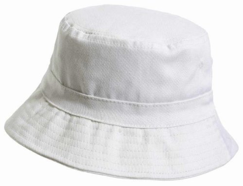 City Thread Little Boys' and Girls' Solid Wharf Hat Bucket Hat for Sun Protection SPF Beach Summer - White - L(2T-3T) by City Threads (Image #2)