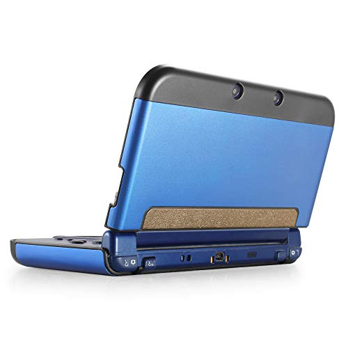 TNP New 3DS XL Case (Navy Blue) - Plastic + Aluminium Full Body Protective Snap-on Hard Shell Skin Case Cover for New Nintendo 3DS LL XL 2015 - [New Modified Hinge-Less Design]