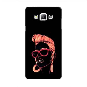 Cover it up Sketchy Girl Samsung Galaxy A8 Hard Case - Black
