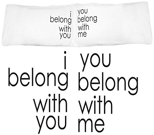 Oh, Susannah I Belong with You, You Belong With Me Couple Pillowcases Wedding Gifts or Anniversary Gifts For Couple, Him and Her Gifts (2 20x30 Inch Standard/Queen Pillowcases) (Blush Faux Butterfly Chair Fur)