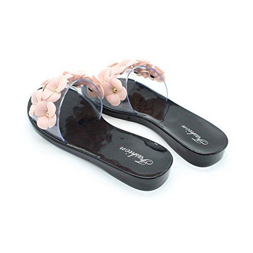 Cristal Sandales Mode Chaussures Perle Pantoufles Plage Shoes d Adorab Chausson 1wcqWx4AnT