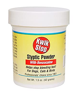 Kwik Stop Styptic Powder Helps Stop Nail Bleeding Fast! For Dogs, Cats & Birds 1.5 oz by United States