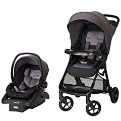 The Safety 1st Smooth Ride Travel System with OnBoard 35 LT Infant Car Seat lets your baby ride with comfort and style. This all-in-one travel system allows for a seamless transition from car to stroller. QuickClick technology secures the LAT...